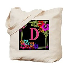 Monogram A to Z Tropical Tote Bag