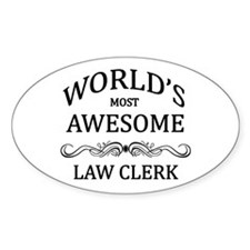 World's Most Awesome Law Clerk Decal