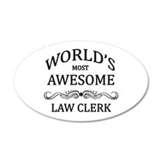 World's Most Awesome Law Clerk Wall Decal