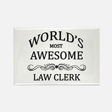 World's Most Awesome Law Clerk Rectangle Magnet