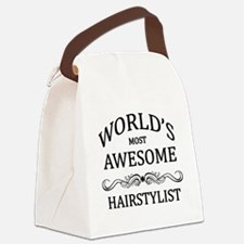 World's Most Awesome Hairstylist Canvas Lunch Bag