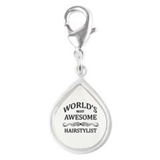 World's Most Awesome Hairstylist Silver Teardrop C