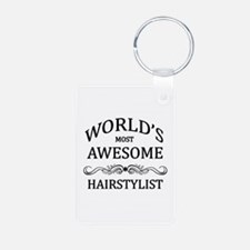 World's Most Awesome Hairstylist Keychains