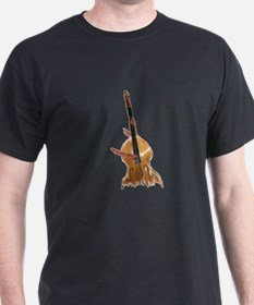upright bass and hands T-Shirt