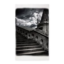 Black and White Gothic Castle 3'x5' Area Rug