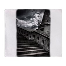 Black and White Gothic Castle Throw Blanket
