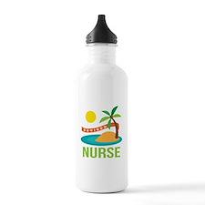 Retired Nurse (tropical) Water Bottle