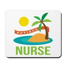 Retired Nurse (tropical) Mousepad