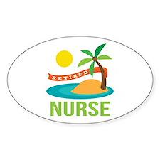 Retired Nurse (tropical) Decal