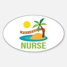 Retired Nurse (tropical) Sticker (Oval)