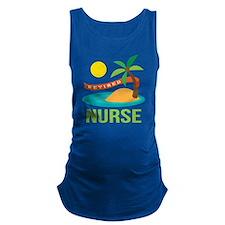 Retired Nurse (tropical) Maternity Tank Top