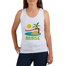 Retired Nurse (tropical) Women's Tank Top