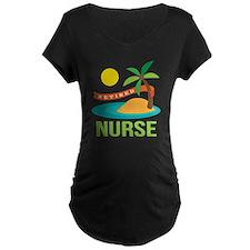 Retired Nurse (tropical) T-Shirt