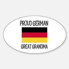 German Great Grandma Oval Decal