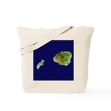 Kaua`i & Ni`ihau Landsat Tote Bag