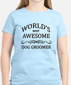 World's Most Awesome Dog Groomer T-Shirt