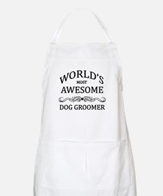World's Most Awesome Dog Groomer Apron