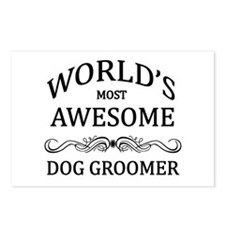 World's Most Awesome Dog Groomer Postcards (Packag