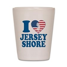 I love jersey shore Shot Glass