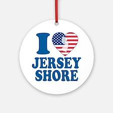 I love jersey shore Ornament (Round)