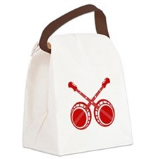 crossed banjos red Canvas Lunch Bag