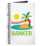 Retired banker Journals & Spiral Notebooks