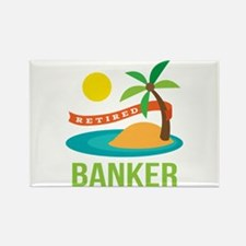 Retired Banker Rectangle Magnet