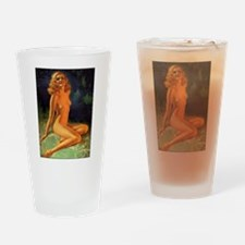 Erotic Nudity Illustrations Drinking Glass