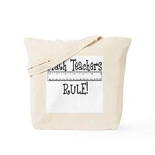 Math Teachers Rule! Funny Tote Bag