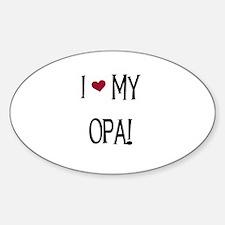 I Love My Opa Oval Decal