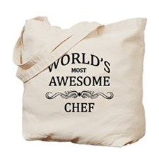 World's Most Awesome Chef Tote Bag