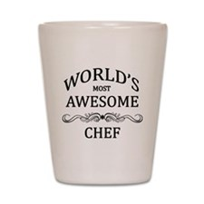 World's Most Awesome Chef Shot Glass