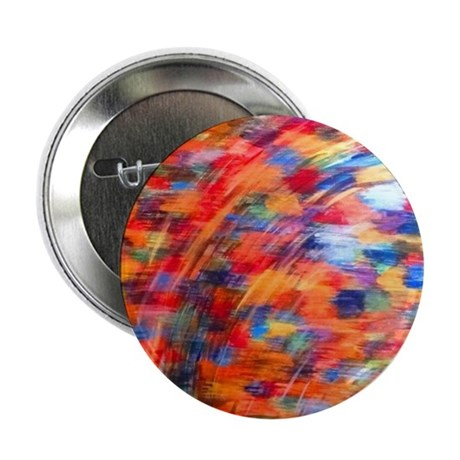 "Kente Rainbow 2.25"" Button"