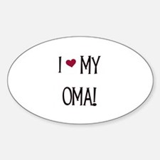 I Love My Oma Oval Decal