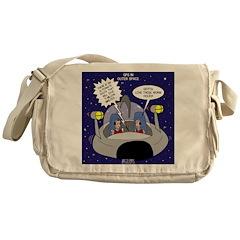 GPS in Space Messenger Bag