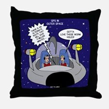 GPS in Space Throw Pillow