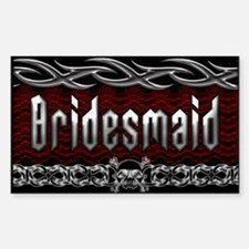 Metal Bridesmaid Rectangle Decal