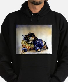 Newspaper Dog Hoodie (dark)