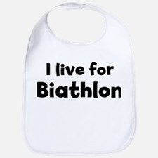 I Live for Biathlon Bib