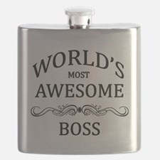 World's Most Awesome Boss Flask