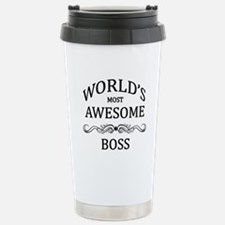 World's Most Awesome Boss Travel Mug
