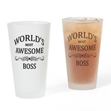 World's Most Awesome Boss Drinking Glass