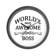 World's Most Awesome Boss Wall Clock