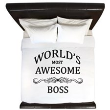 World's Most Awesome Boss King Duvet