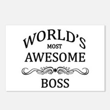 World's Most Awesome Boss Postcards (Package of 8)