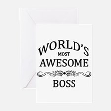 World's Most Awesome Boss Greeting Cards (Pk of 20