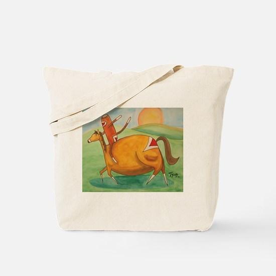 Sockey Jockey Tote Bag