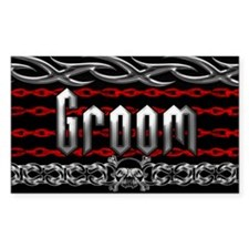 Metal Groom Rectangle Decal