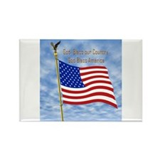 God Bless America 1 Rectangle Magnet