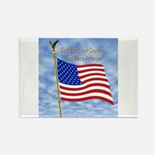 God Bless America 1 Rectangle Magnet